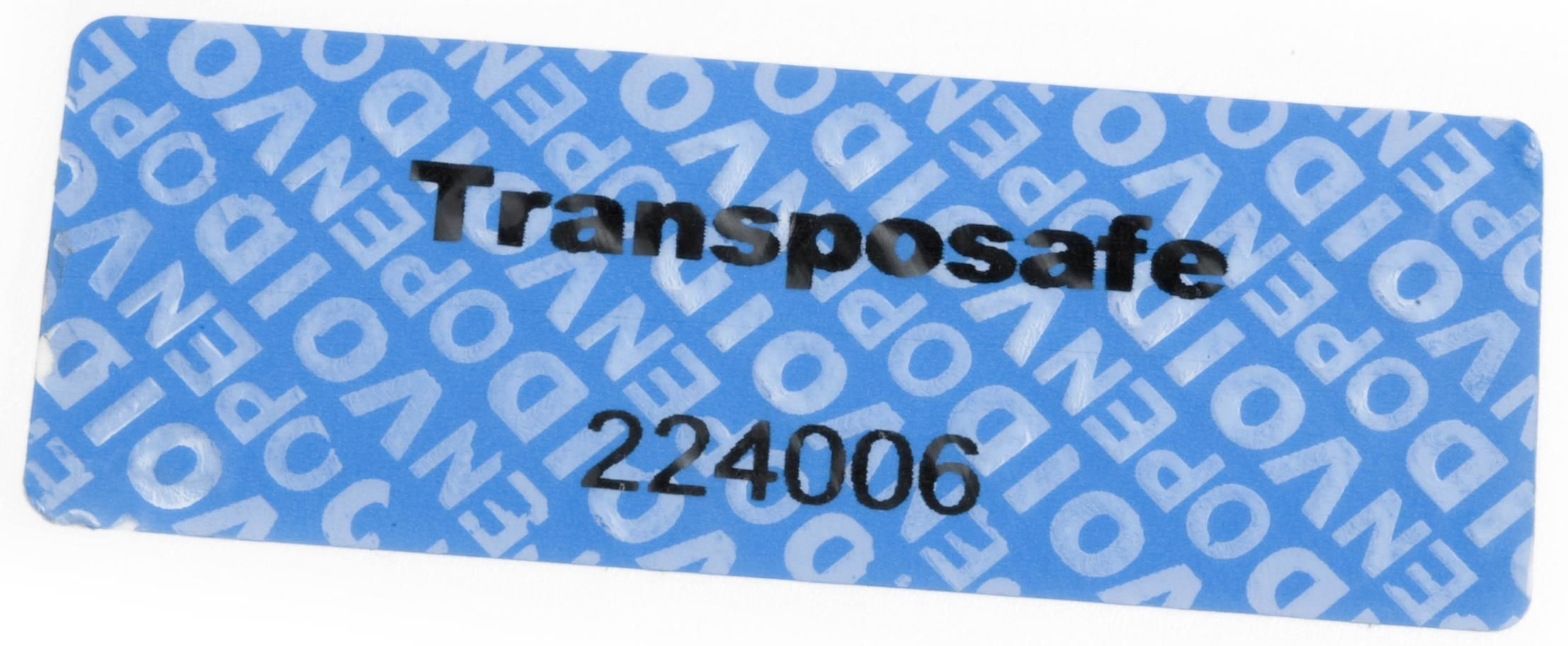Security Label Non-Transfer 30x78mm